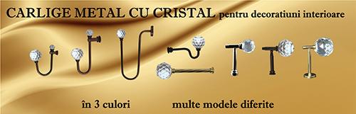 Carlige metal cu cristal pentru decoratiuni interioare
