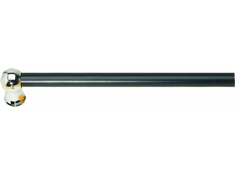 Bara perdeluta PION SAH metal 12 mm Ø, negru-crom