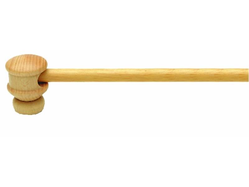 Bara perdeluta TURNLOOK lemn 12 mm Ø, natur