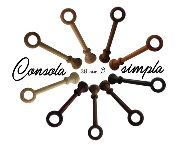 28 mm Ø consola simpla FILIGRANO lemn 18 cm