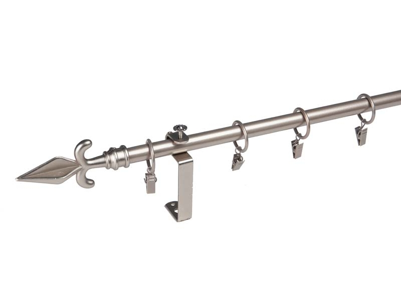 galerie 16 mm EXTENSIBILA metal, capete SZOLNOK simpla, crom-mat, 160-300 cm