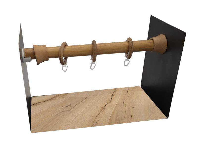 galerie 28 mm  PERETE-PERETE lemn stejar-deschis