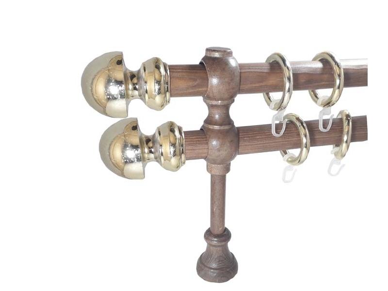 galerie 28 mm SICILIA lemn, capete AVOLA, stejar-auriu