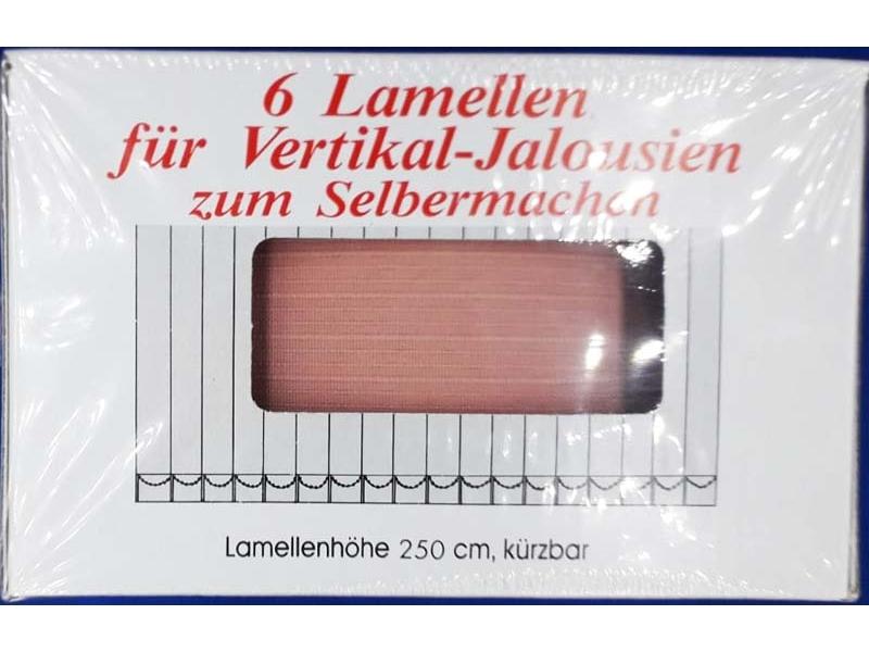 Lamele pentru Jaluzele Verticale 89 mm teracota