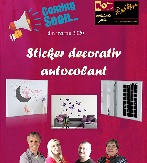 Catalog sticker decorativ
